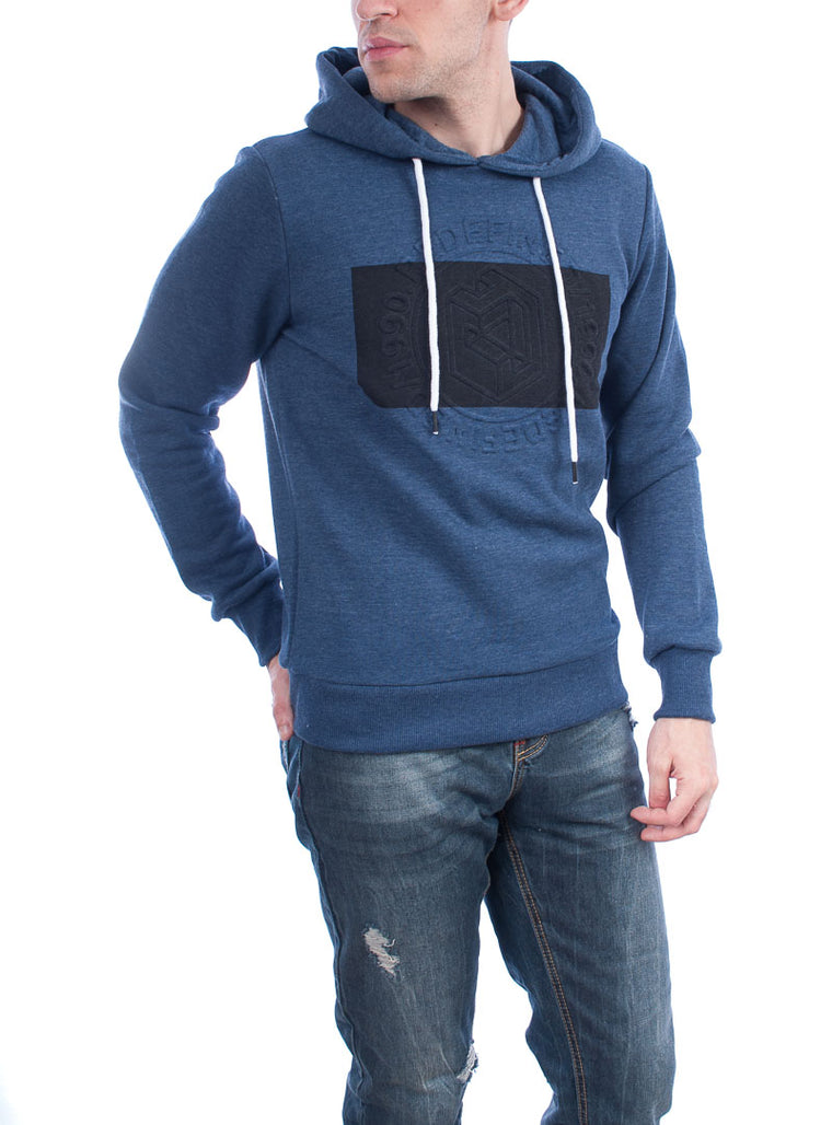 Jack & Jones  hoodie blue - black