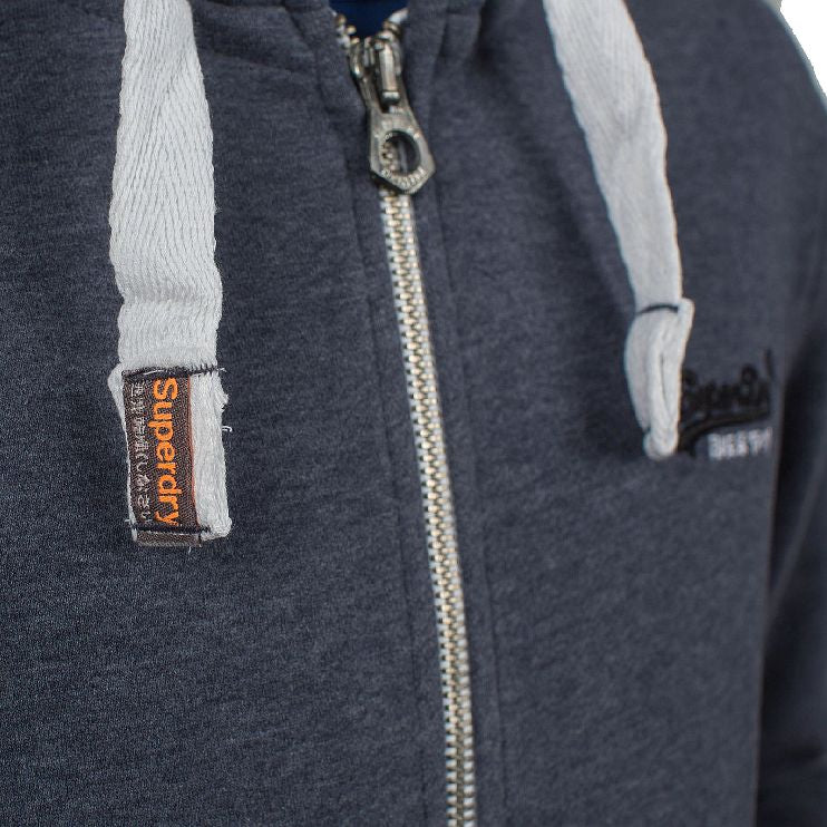 Superdry ζακέτα φούτερ eclipse navy marl