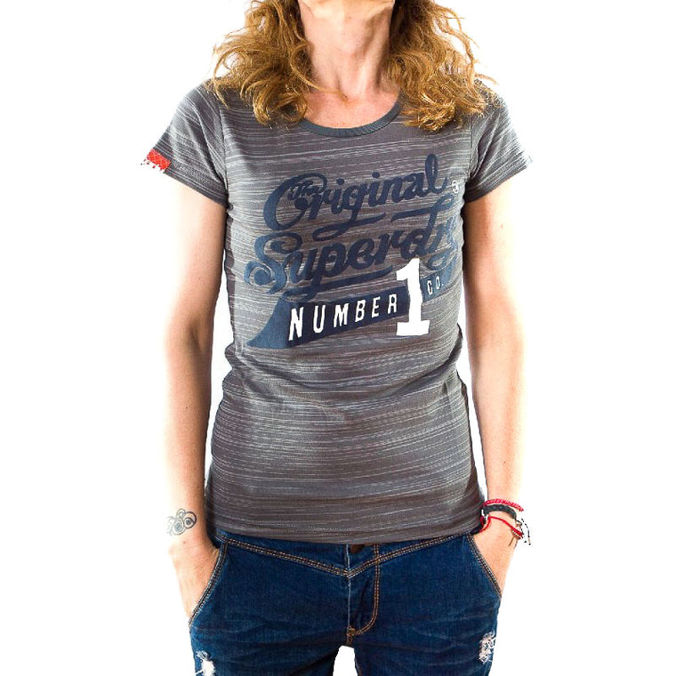 Superdry γυναικείο t-shirt light grey marl