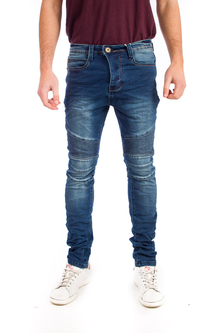 Eight2Nine JoggJeans Biker Μπλε DARK BLUE H1313I61528EN
