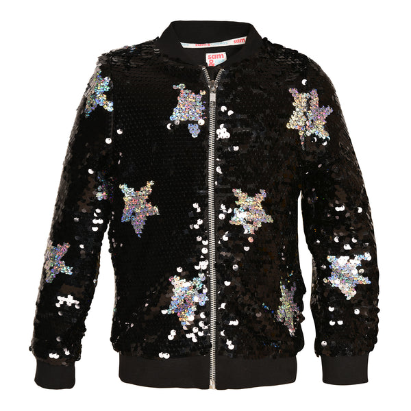 Magica Sequinned Bomber Jacket