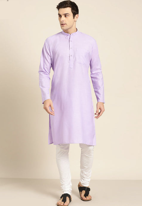 COTTON SOLID KURTA TOP (PURPLE)