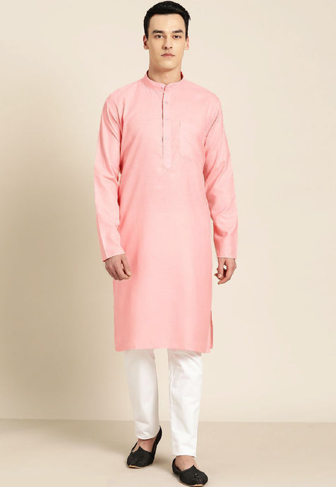 COTTON SOLID KURTA TOP (PINK)