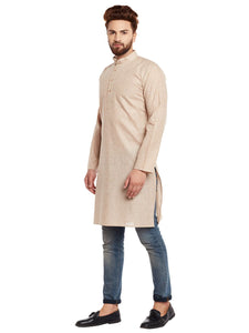 COTTON LINEN  KURTA TOP (BROWN)