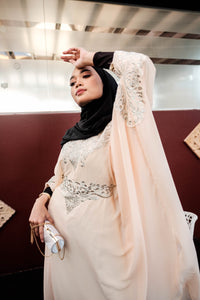 Turkish Neelofa Kaftan - Light Pink