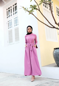 YC Selma Dress in Light Magenta