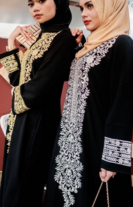 Turkish Nurul dress in Silver Embroidery
