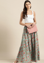 Load image into Gallery viewer, Mya Boho Maxi Skirt - Teal