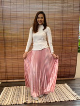 Load image into Gallery viewer, Satin Pleated Skirt - Pink