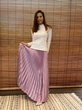Load image into Gallery viewer, Satin Pleated Skirt - Purple