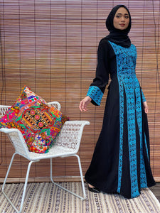 Turkish Sahara Princess Dress - Blue