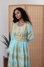 Load image into Gallery viewer, Turkish Haneesah Dress - Tiffany Gold- Long Sleeves