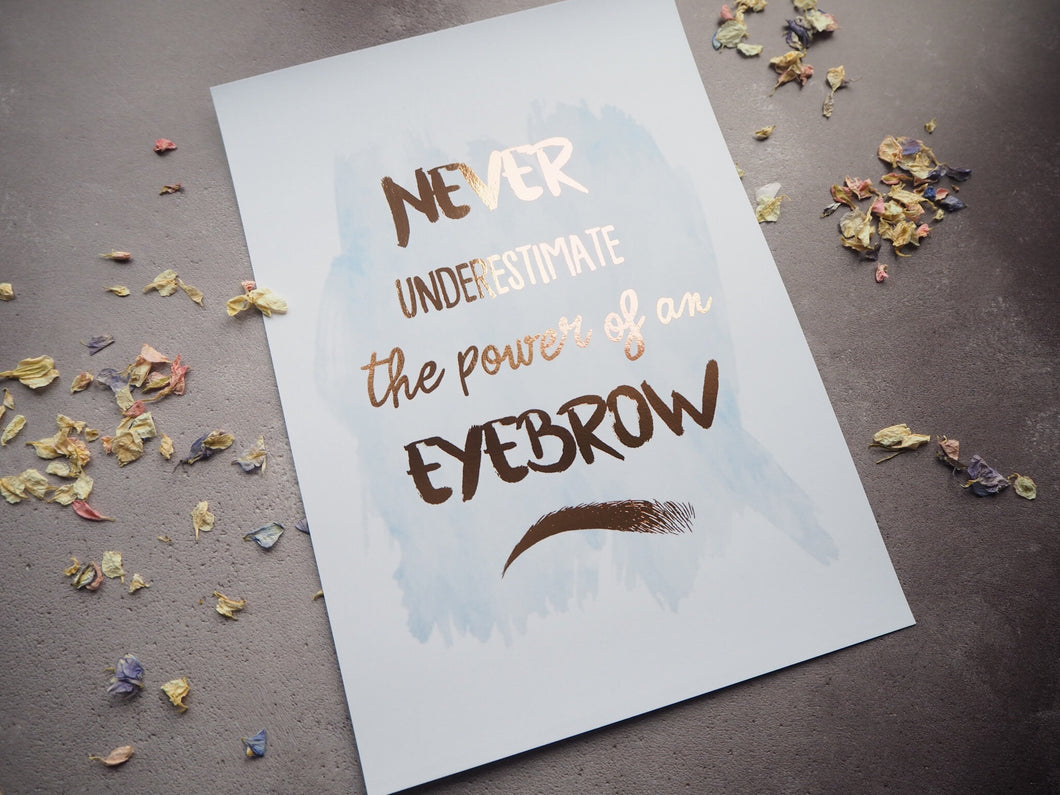 Never underestimate the power of an eyebrow