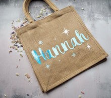 Personalised hessian jute bag