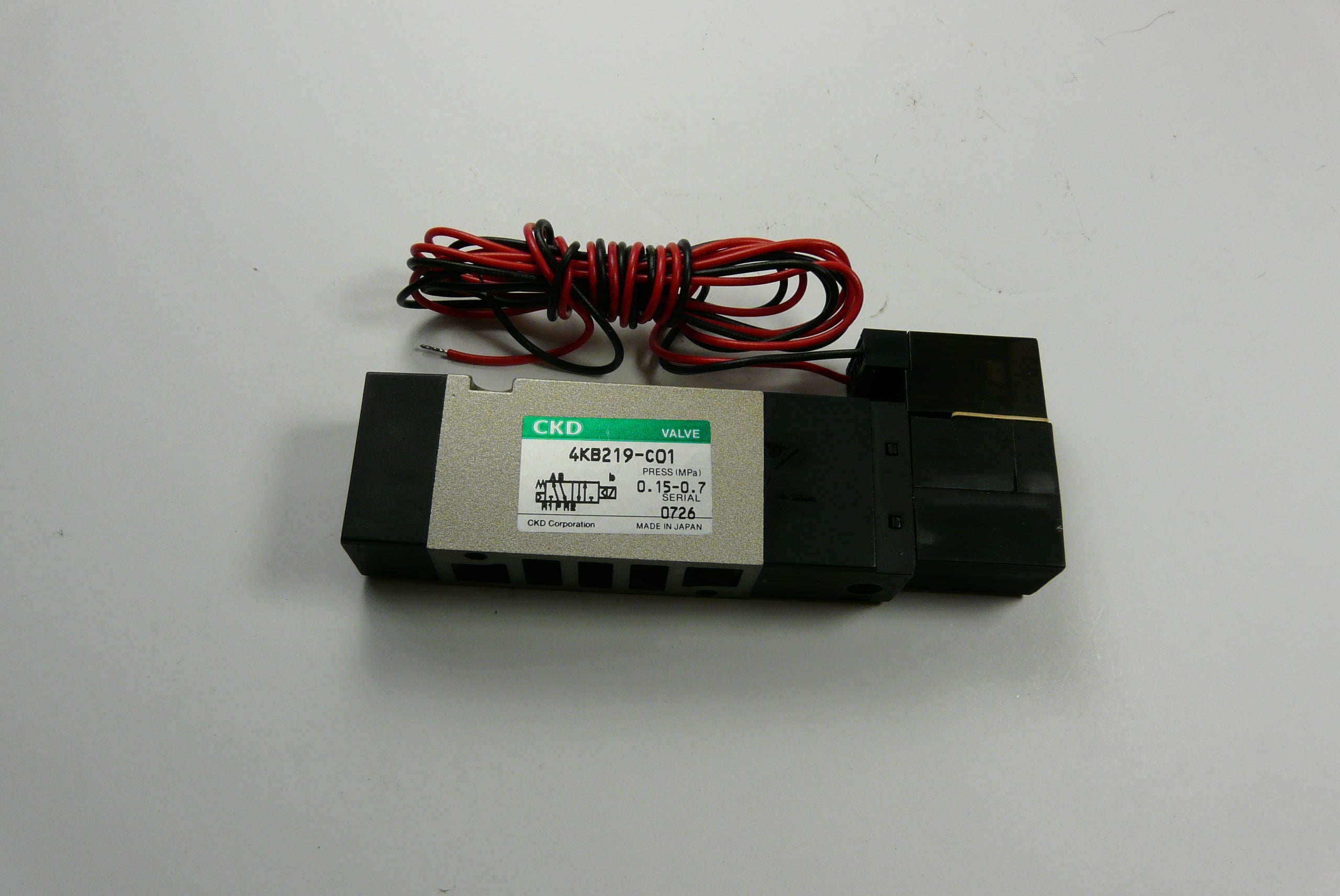 CKD Air Solenoid Part# CKD4KB219-C01
