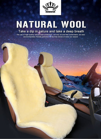 Automobile - All Natural Sheepskin Car Seat Cover