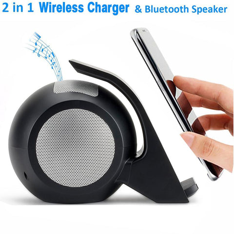 Gadget - 2-in-1 Fast Qi Wireless Charger With Bluetooth Speaker