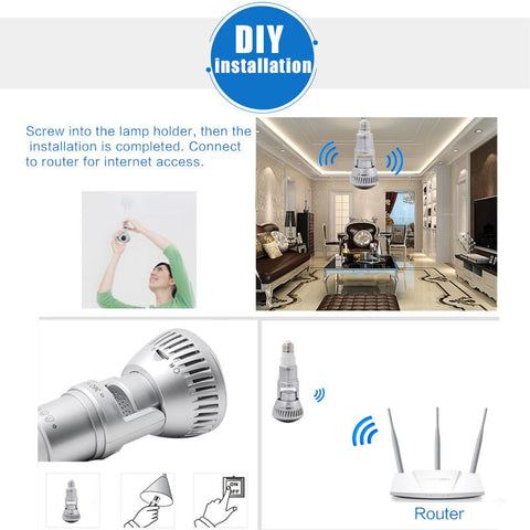 Gadget - Wifi Light Bulb Security Camera