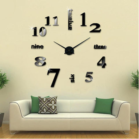 Household - DIY Frameless Large 3D Wall Clock