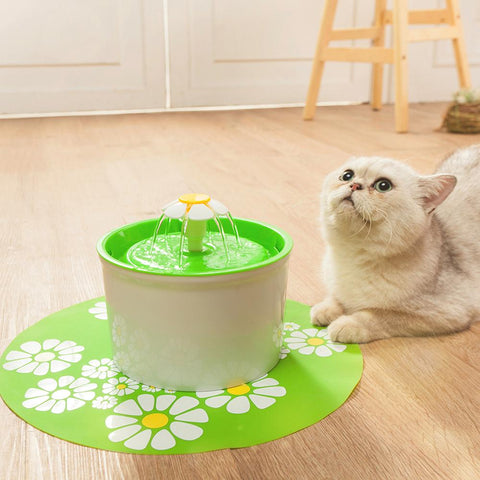 Pet - Inticing Flower Style Water Drinking Pet Fountain