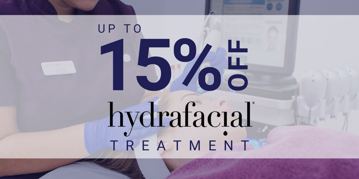 15% off hydrafacial treatment