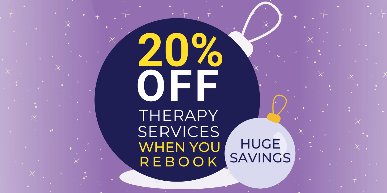 20% Off Therapy Services When You Rebook