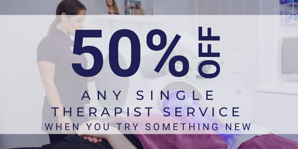 50% off any single therapist service when you try something new