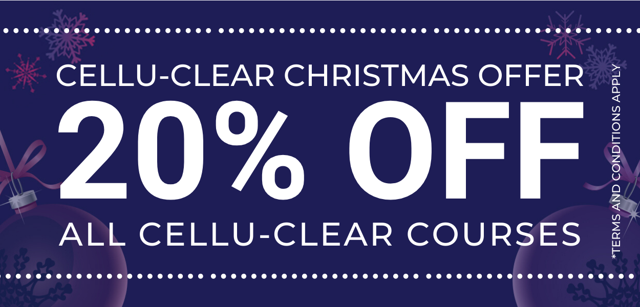 Cellu clear offer 20% Off all cellu-clear courses