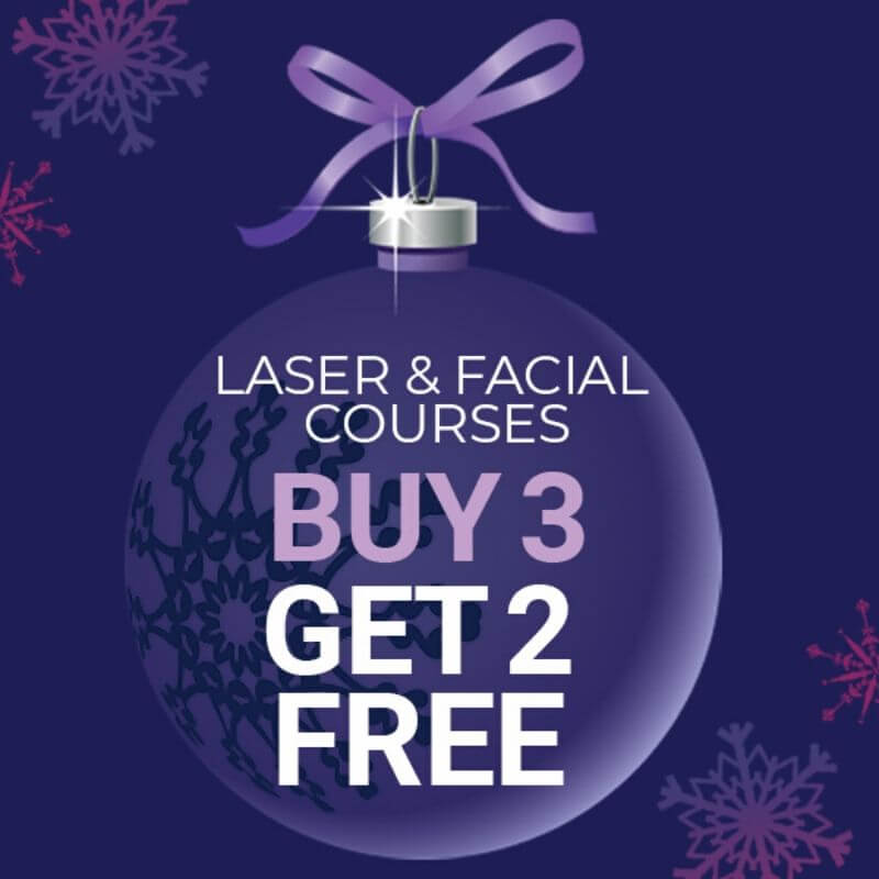 Buy 3 get 2 free laser and facial courses