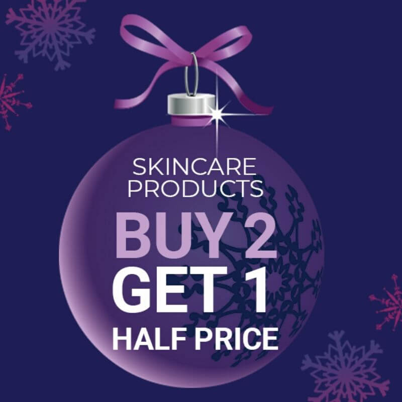 Skincare Products Buy 2 Get 1 Half Price