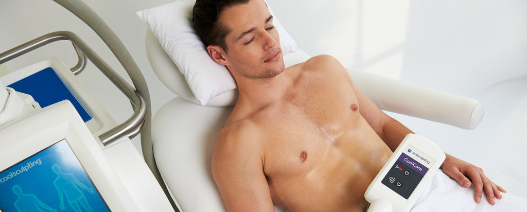 Man having a single Coolsculpting Cycle