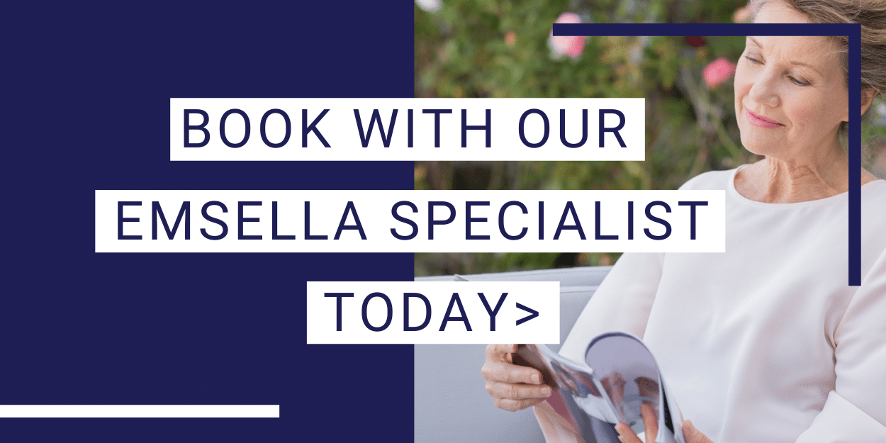 Book with our emsella specialist today