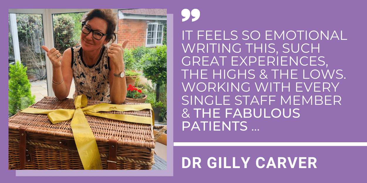 DR Gilly Carver Announces Her Retirement