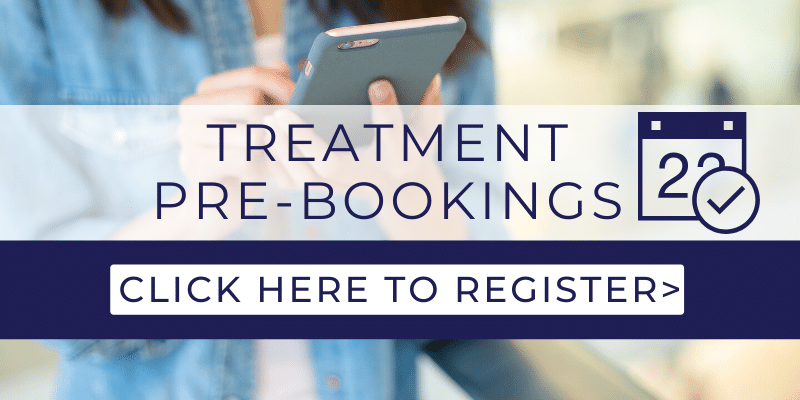 treatment pre booking open