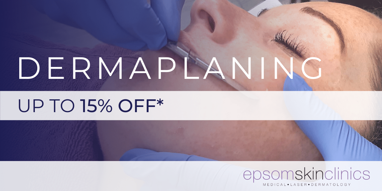up to 15% off dermaplaning
