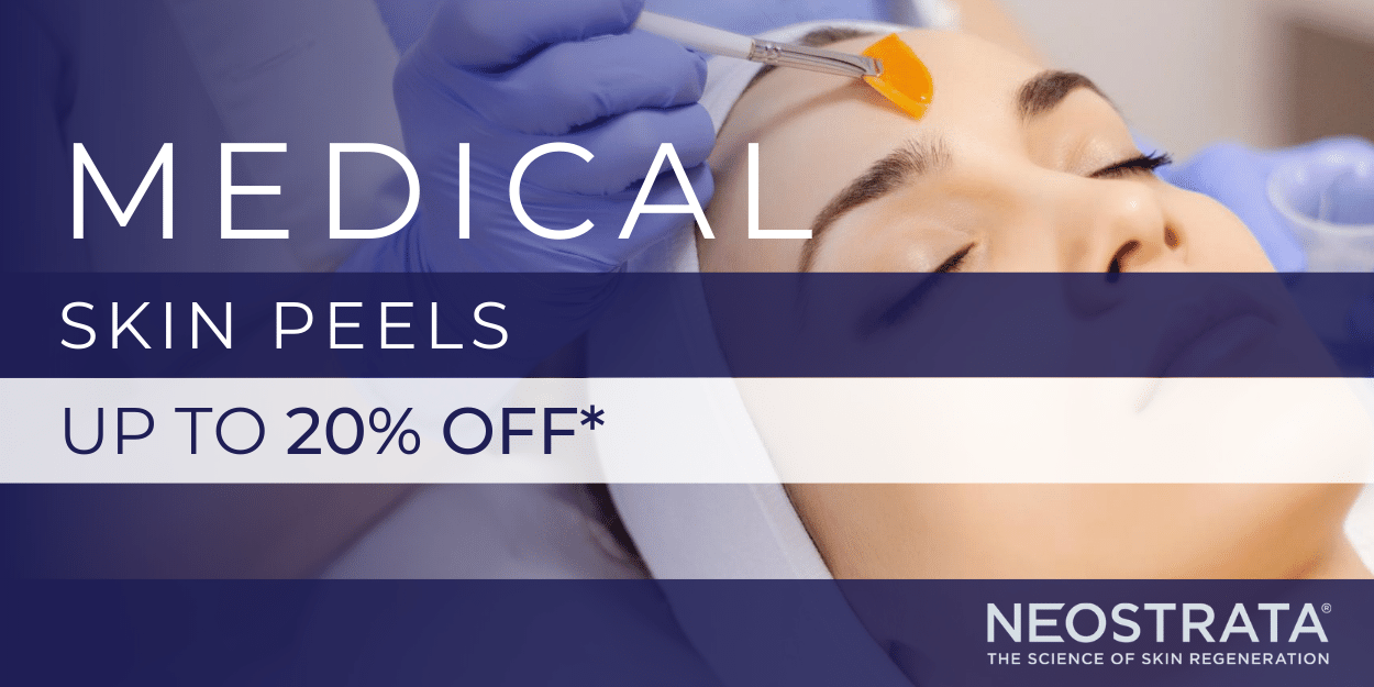 up to 20% off skin peels