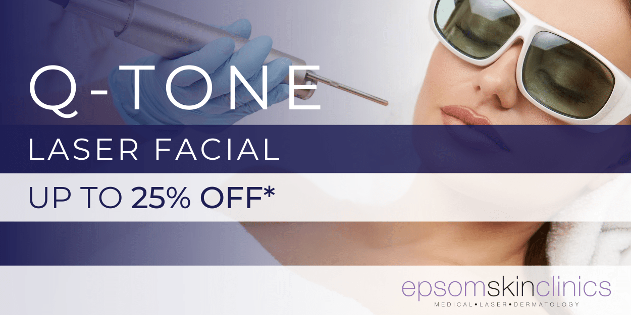 up to 25% off Q tone laser facial