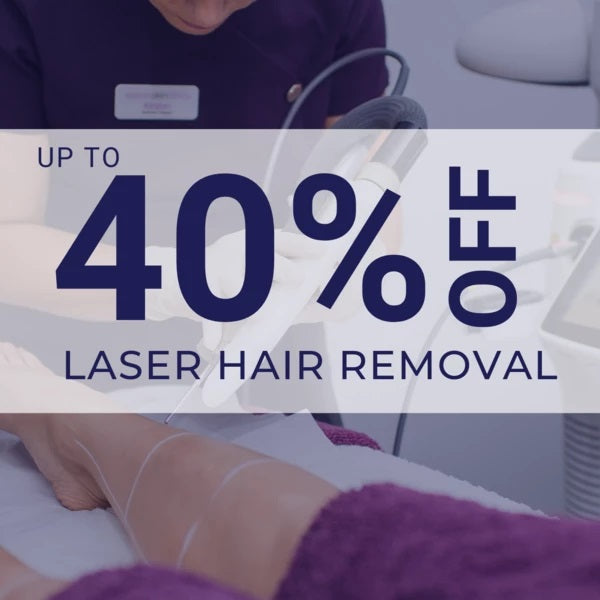 upto 40% off laser hair removal