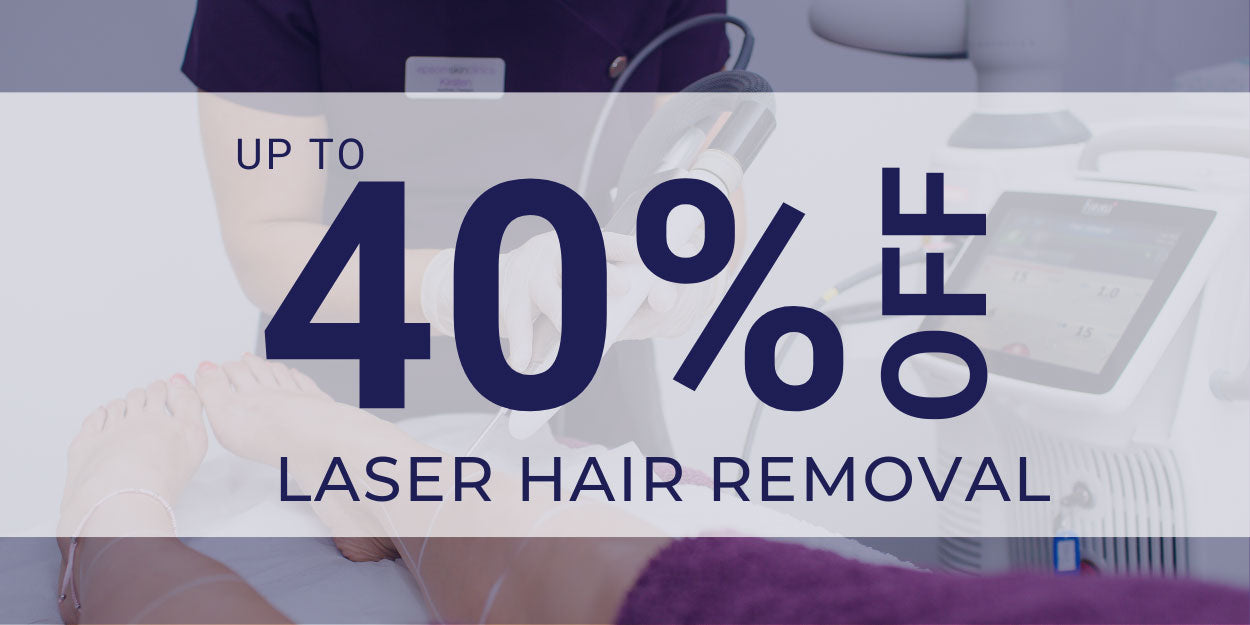 up to 40% off laser hair removal