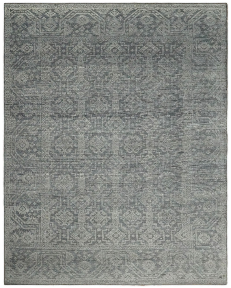 Hand Knotted 8x10 Antique Gray and Beige Traditional Persian Rug | TRD2390