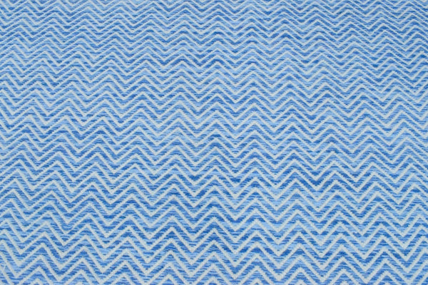 2x3, 5x8, 8x10 Dhurrie Rug, Blue Chevron Rug - The Rug Decor