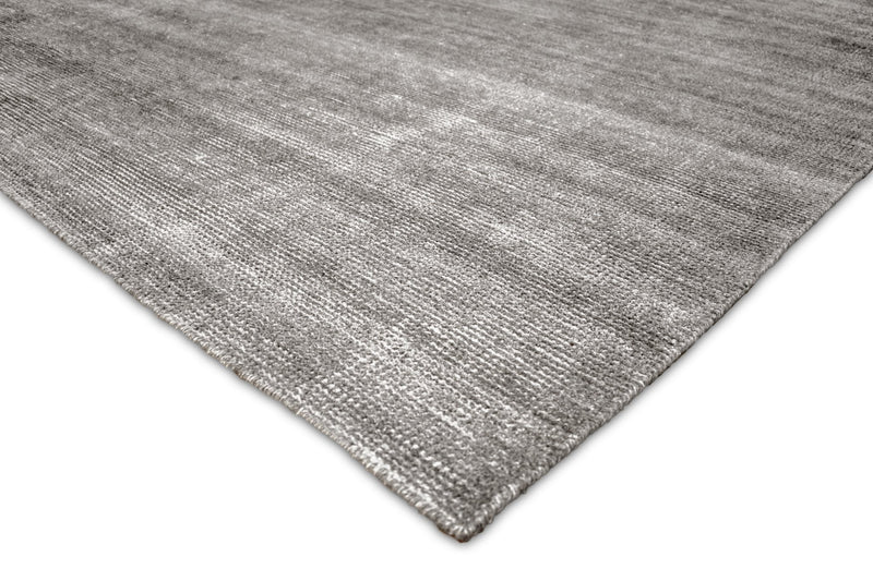 2x3, 5x8 and 8x10 Solid Gray Rug made with wool and viscose blend | TRD178 - The Rug Decor
