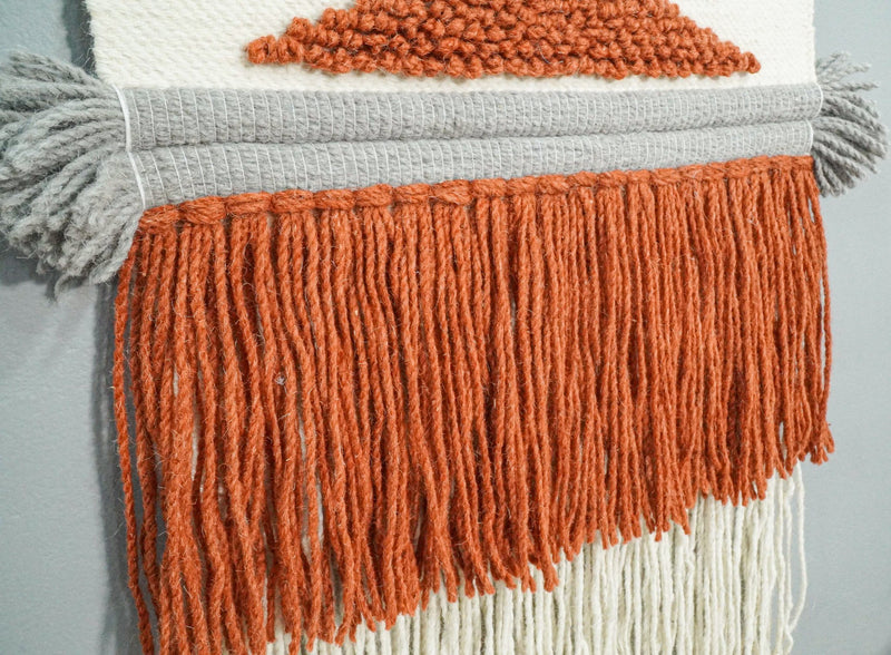 2x3 Wool Hand Woven Terracotta Boho Wall Hanging | WH3 - The Rug Decor
