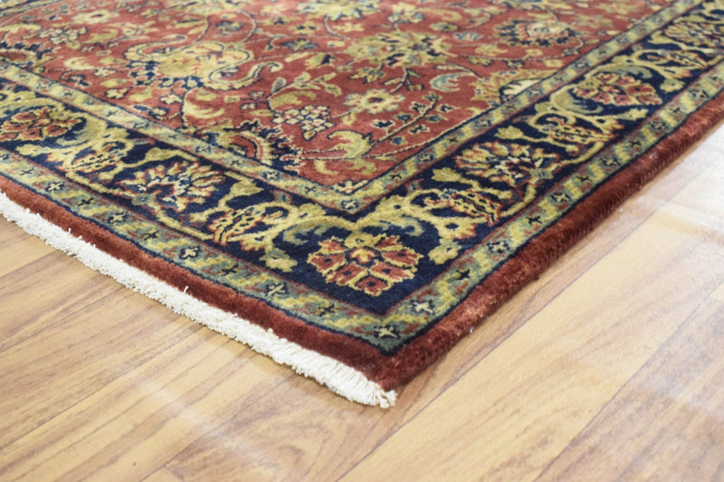 3x12 Fine Runner Hand Knotted Area Rug | Mashad Design Made with Fine New Zealand Wool - The Rug Decor