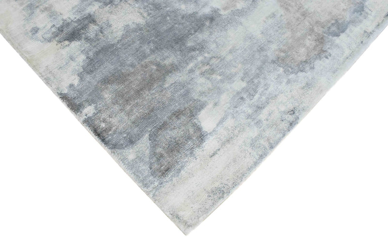 5.7x8 Rug, Abstract Red and Gray Rug made with Viscose Art Silk - The Rug Decor