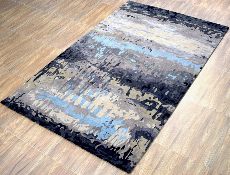 5'x 8' Rug | Modern Handmade fine Wool Viscose Area Rug | The Rug Decor | TRD633958 - The Rug Decor