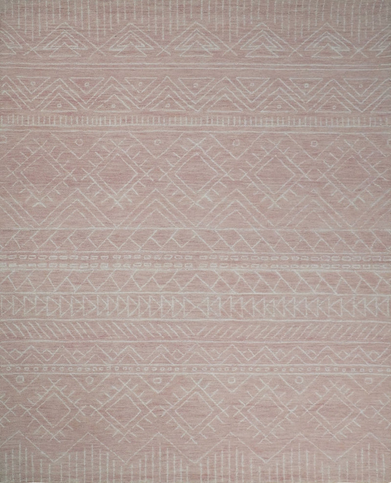 5x8 and 8x10 Hand Made Woolen Modern Pink Area Rug | AZT001 - The Rug Decor