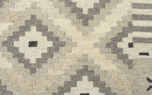 5x8 Dhurrie Rug, Beige Brown Tribal Pattern Wool Rug - The Rug Decor