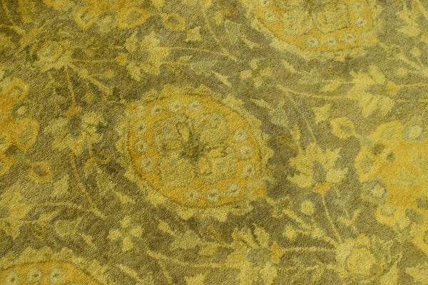5x8 Gold Handmade Overdyed Wool Area Rug | TUF7 - The Rug Decor