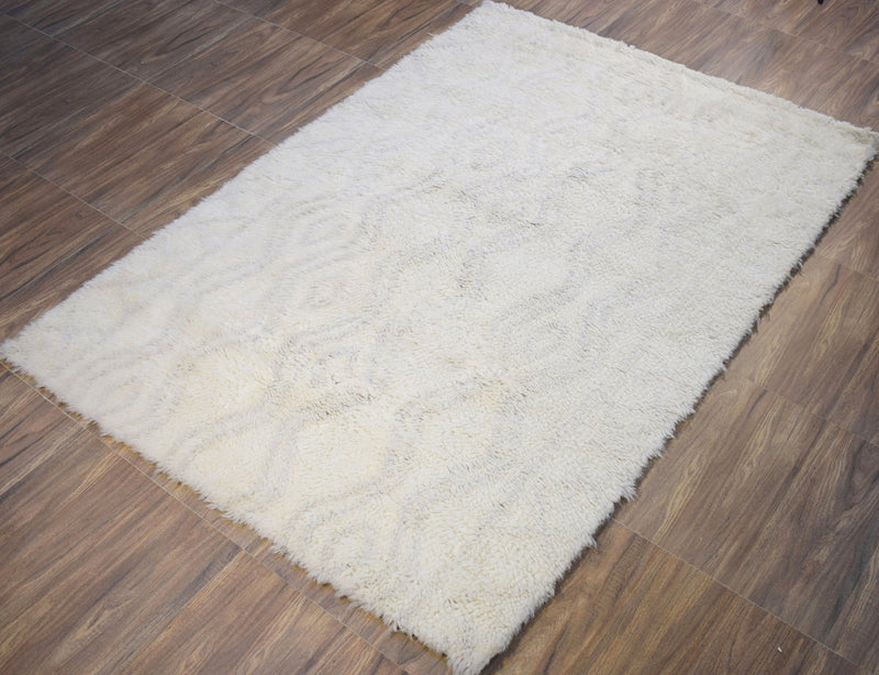 5X8 Rug | Modern Handmade New Zealand Wool Area Rug | The Rug Decor |TRD172158 - The Rug Decor